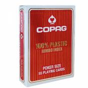 Cartes Poker Plastique COPAG - Jumbo Rouge