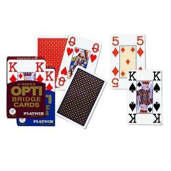 Jeu de 54 Cartes OPTI Bridge 4 Index