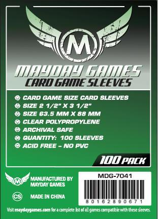 CARD GAME SLEEVES 63.5X88MM
