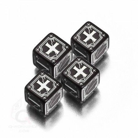 FUDGE DICE ANTIQUE NOIR ET BLANC
