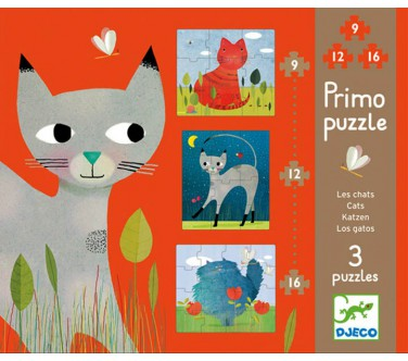 PRIMO PUZZLES : CHATS 9-12-16 PIECES