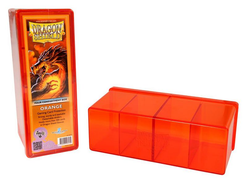 BOITE DE RANGEMENT 4 CASES ORANGE DRAGON SHIELD