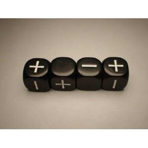 FUDGE DICE BLACK