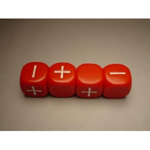 FUDGE DICE RED