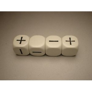 FUDGE DICE WHITE