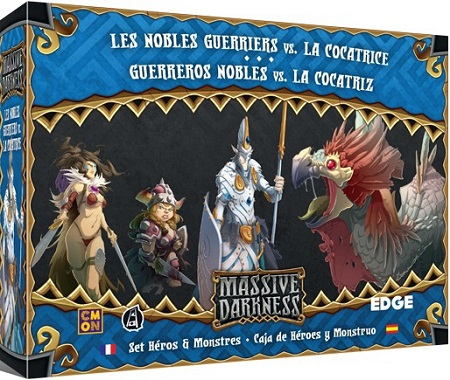 Massive Darkness : Les Nobles Guerriers vs. la Cocatrice