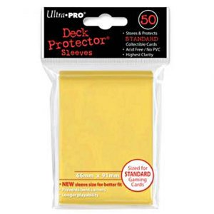 PROTEGE-CARTES JAUNE (X50) 66X91MM