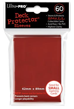 PROTEGE-CARTES ROUGE (60) 62X89MM