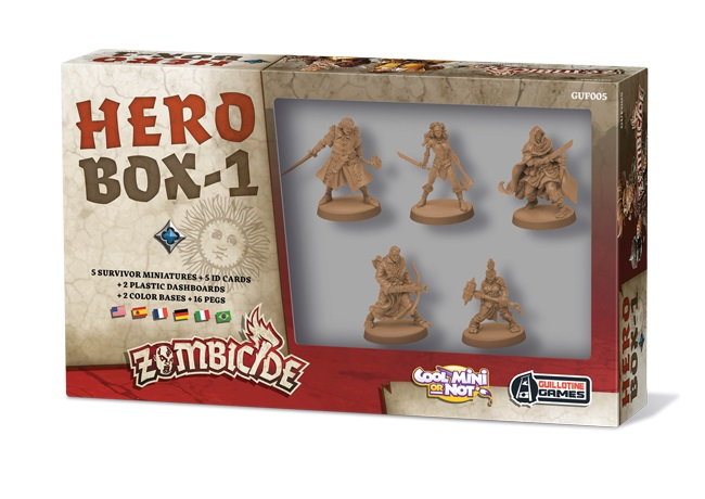 ZOMBICIDE BLACK PLAGUE : HERO BOX 1